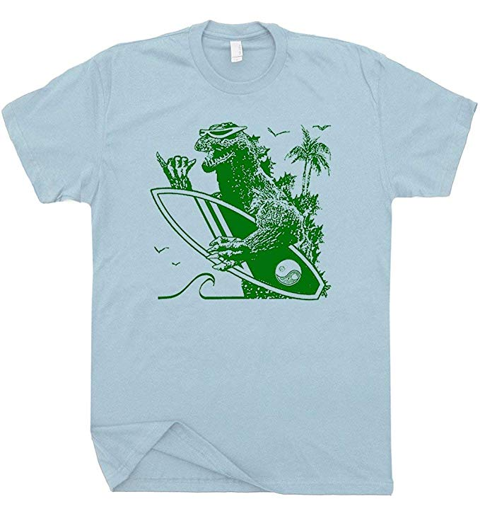 Sufing Godzilla Tee